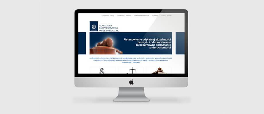 strona internetowa dla kancelarii prawnej